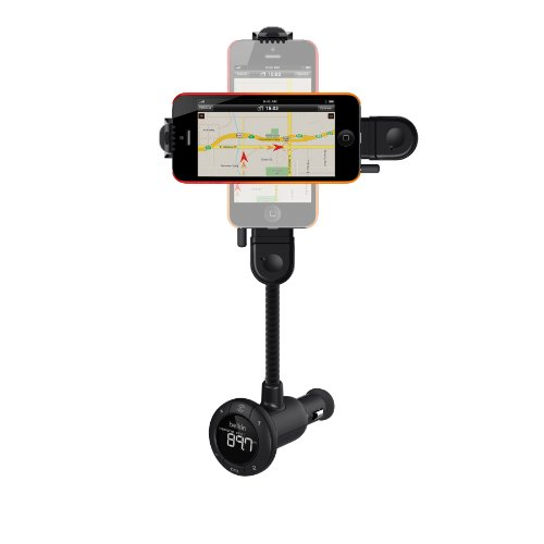 Belkin Tunebase FM Hands Free Freisprechsystem (inkl. Lightning Connector, geeignet für Apple iPhone 5 und iPod touch 5. Gen)