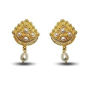Surat Diamonds Gold-Plated Stud Earring For Women Gold - SE140