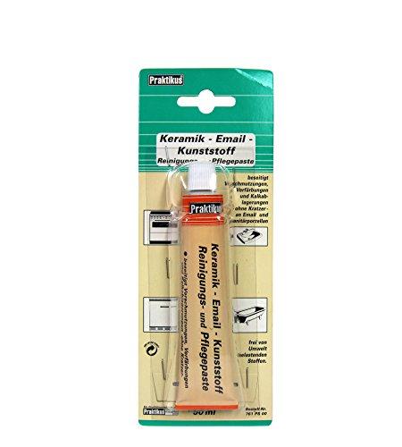 Bindulin Emailreinigungspaste Pflegepaste für Keramik Emaille & Gold Chrom Edelstahl Edelstein Glas - beseitigt optisch Kratzer und Verschmutzungen & für das Polieren