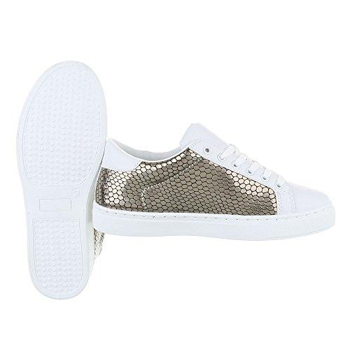 Ital-Design - Pantofole Donna Silber Grau FC-S25