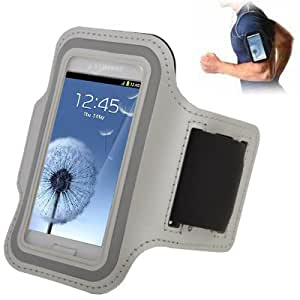 Crazy4Gadget Sports Armband Case with Earphone Hole for Samsung Galaxy SIII mini/ i8190 , Galaxy Trend Duos / S7562 (Grey)