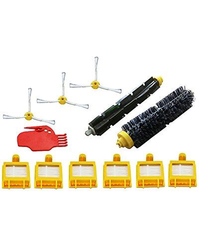Kit di manutenzione per irobot roomba serie 700 (alternativa a 4503462). include 6 filtri, 3 spazzole laterali, 1 spazzola di setola, 1 spazzola flessibile, 1 strumento per la pulizia delle spazzole
