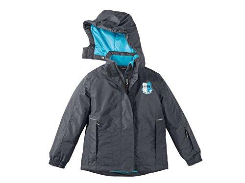 Kinder Mädchen Skijacke Farbe: Anthrazit/Blau Gr. 146/152 Wind- und wasserdichtes Obermaterial mit versiegelten Nähten