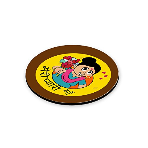 LOF Meri Pyari Maa Gifts For Mummy For Mother's Day and Birthday Anniversary Gifts Round Printed Coaster  available at amazon for Rs.199