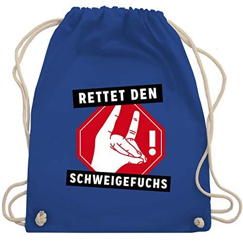 Lehrer - Rettet den Schweigefuchs - Unisize - Royalblau - WM110 - Turnbeutel & Gym Bag