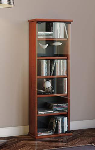 41 u0h3Q2oL - VCM Vetro-Torre para CD/DVD, para 150 CDs, Color Cerezo