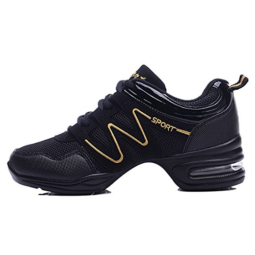 YIBLBOX Damen Gymnastik Sport Fitness Tanz Turnschuh Training Tanzsneaker Lace-up Websneaker jazzdance Schuhe Dancesneaker Tanzschuhe -