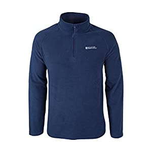 41 u3GLEWgL. SS300  - Mountain Warehouse Snowdon Mens Micro Fleece Top - Warm, Breathable, Quick Drying, Zip Collar Fleece Sweater, Soft & Smooth Pullover - for Travelling, Spring Walking