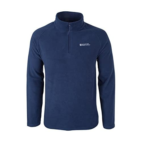 41 u3GLEWgL. SS500  - Mountain Warehouse Snowdon Mens Micro Fleece Top - Warm, Breathable, Quick Drying, Zip Collar Fleece Sweater, Soft & Smooth Pullover - for Travelling, Spring Walking