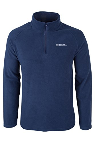 Mountain Warehouse Snowdon Mens Micro Fleece - Warm, Breathable All Season Coat, Quick Drying, Zip Collar Fleece Jacket, Soft & Smooth Top - For Travelling & Daily Use