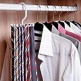 Tie Rack Tie Hanger Holds 20 Hook Clost Clo Accessory Hanging Necktie Belt Organizer