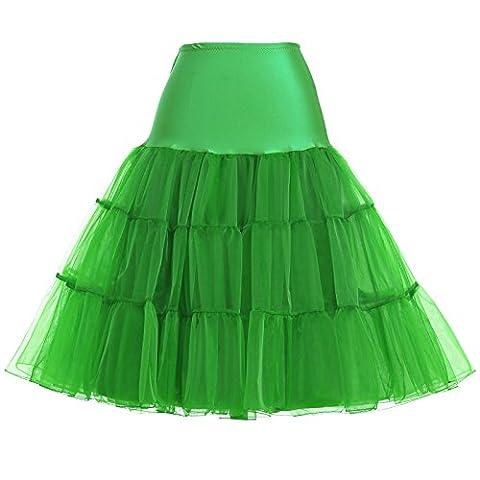 Grace Karin Women's 50s Petticoat Skirt, Green Small