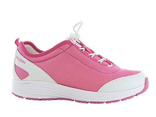 Oxypas Maud Damen Arbeits- und Sicherheitsschuhe | Sneaker, Farbe: Fuxia, Größe: 39
