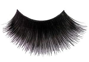 Eulenspiegel 000502 - pestañas artificiales - Negro, largo - 2 x 1 piezas