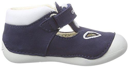 Geox B Tutim A, Chaussons pour enfant bébé garçon Bleu (Navy/whitec4211)