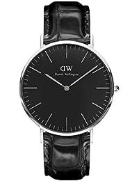 Daniel Wellington Classic Herren-Armbanduhr Analog Quarz Leder - DW00100135