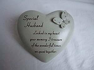 Mari Special Love Coeur Plaque commémorative pour tombe décoration