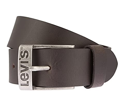 LEVIS Belt mens belt leatherbelt leather Jeans belt brown, Länge:105