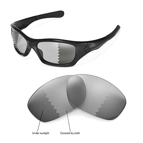 Walleva Ersatzgläser für Oakley Pit Bull Sonnenbrille - Mehrfache Optionen (übergang/photochrom - Polarisiert)