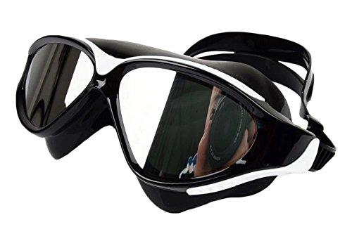 Anti-Fog-Schutzbrille-große Rahmen-Galvanischer Überzug Schwimmbrillen-B2