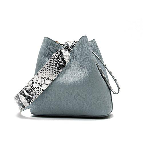 HMWHJP Umhängetasche Fashion Buckets Tote Handtasche Damen Messenger Hobos Schultertasche Crossbody Umhängetasche Einfach,Blue -