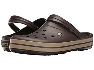 a5b1148a9 crocs Women s Crocband Clog Espresso Khaki 37-38 M EU   7 B(M) US Women   5  D(M) US Men  Buy Online at Low Prices in India - Amazon.in
