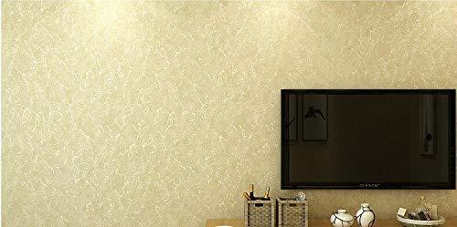 HNZZN Vlies Tapete Prägung Prozess meliert Plain Wallpaper Moderne, einfache Farbe Tapete Wohnzimmer Schlafzimmer, Cremefarben 5C 79705, 53 CM X 10 M