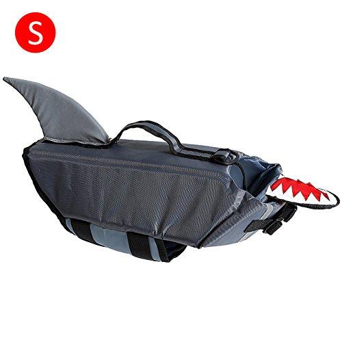iBaste Hunde Schwimmweste Wassersport Schwimmhilfe für Hunde Rettungsweste Schwimmtraining-GY-S