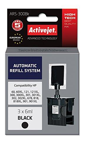 ActiveJet EXPACJAHP0152 Tinte Refill-Set ARS-300B für HP 300/301/901, schwarz