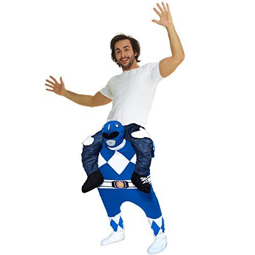 Morphsuits MCPBLPRBL - Power Rangers Klassisch Huckepack Kostüm - Uni Größe, blau