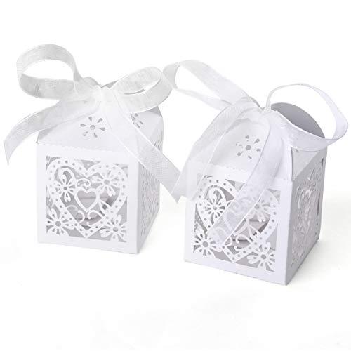 50Vintage/Shabby Chic Hochzeit für Boxen mit Bänder Birdcage Stil
