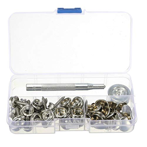 75 Pcs 15mm Snap Fastener Button Screw Studs Kit For Boat Cover Tent Accessories Diversified In Packaging Boat Parts & Accessories Atv,rv,boat & Other Vehicle