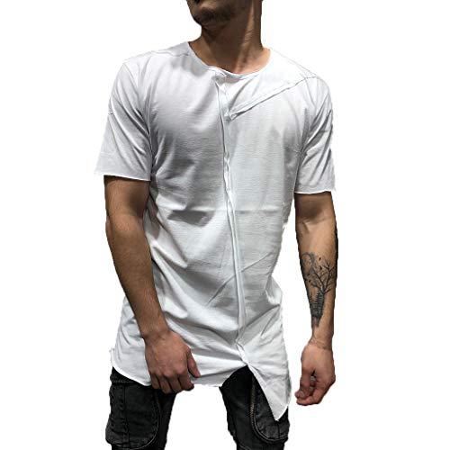 T-Shirt Herren Sommer Mode Kurzarm Oansatz Malerei Große Größe Lässige Top Bluse Outdoor Jogging Shirts Weißshirt