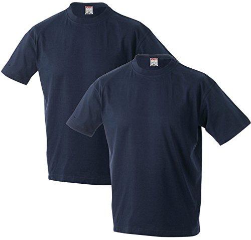 Adamo Marlon T-Shirt im Doppelpack XXL-56 bis 10XL-86/88 schwarz, weiß, blau, rot, hellgrau Blau
