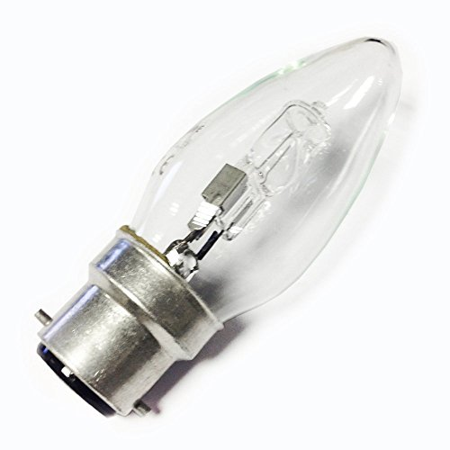 10 x Quality Dimmable 40w Equivalent BC B22 Bayonet Cap Candle Low Energy Saving Halogen Light Bulbs