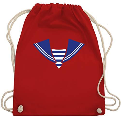 Karneval & Fasching - Matrose Kostüm Kragen - Unisize - Rot - WM110 - Turnbeutel & Gym Bag