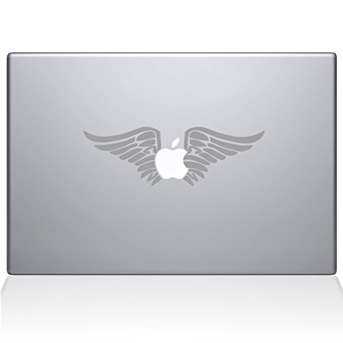 The Decal Guru Cherub Angel Wings MacBook-Aufkleber - 15 Zoll MacBook Pro (2016 und Neuer) - Silber (0155-MAC-15X-S) Protector Case Angel Design