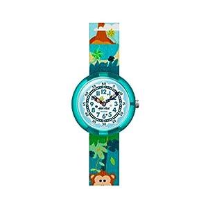 Flik Flak Jungen Analog Quarz Uhr mit Textil Armband FBNP128