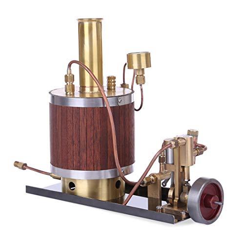 POXL Dampfmaschine Motor Bausatz, Mini Metall Dampfmaschine Sterling Engine Modell Dampfmaschine Generator Pädagogisches Spielzeug mit Boiler und Basissatz
