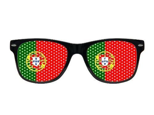 Lunettes à grille à trous Design Drapeau pays coupe du monde foot soirée évenement à thème humoristiques deguisement fête