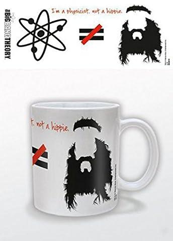 Set: The Big Bang Theory, Je Suis Physicien Pas Hippie, Équasion Tasse À Café Mug (9x8 cm) + 1x Sticker Surprise 1art1®