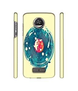 Backlash Fish Around Earth Design 3D Printed Hard Back Case Cover for Motorola Moto Z2 Play