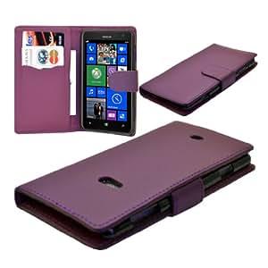 eFeel Nokia Lumia 625 Pu Leather Wallet Flip Pouch Phone Case Cover (Purple Colour)