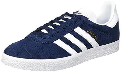 adidas Gazelle, Baskets Basses Femme, Bleu (Collegiate Navy/Footwear White/Gold Metallic), 36 2/3 EU