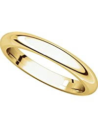 9ct Yellow Gold, Comfort Fit Wedding Band 3MM (sz H to Z5)