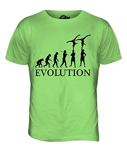 CandyMix Gruppengymnastik Evolution Des Menschen Herren T Shirt Limettengrün