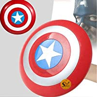 "Sage Square Marvel Legendary ""Shield"" of Captain America with Light and Sound Features for Costume Parties, Cosplay and…"