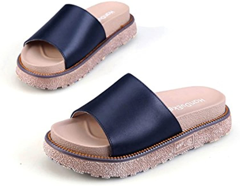 ShangYiSommer-britischen Stil flache Flip-Flops dicken Boden römischen Damen bequeme Sandalen