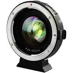 VILTROX Focal Réducteur Booster Adaptateur Objectif AF 0.71x EF-M2 pour Canon EF Monture Objectif à M43 Caméra