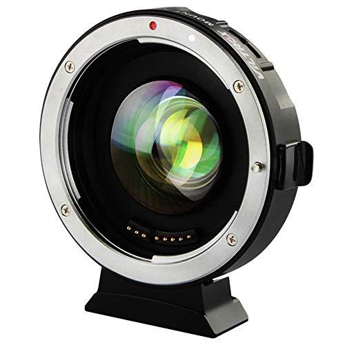 EF Objektiv Adapter für M4 / 3, Viltrox EF-M2 II Autofokus Adapter Focal Reducer Booster 0.71X Objektiv Mount Adapter für Canon EF Objektiv zu Micro Four Thirds (MTF, M4 / 3) Panasonic Olympus Kameras